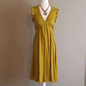 J Crew chartreuse dress